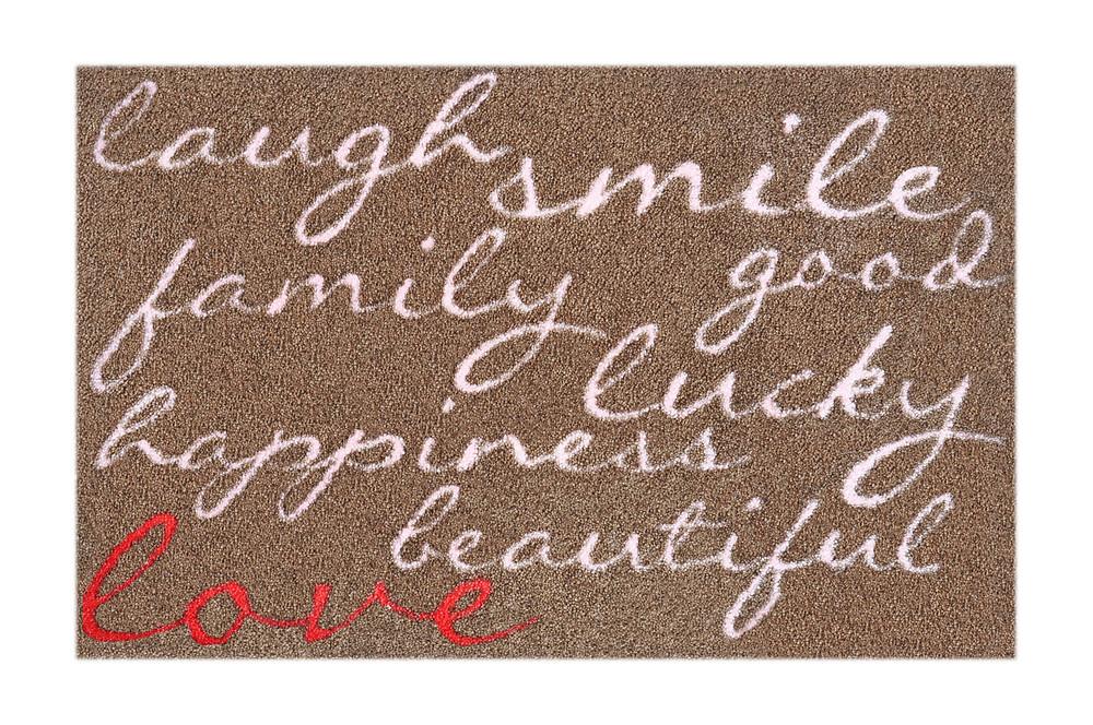 brauner Teppich - Love