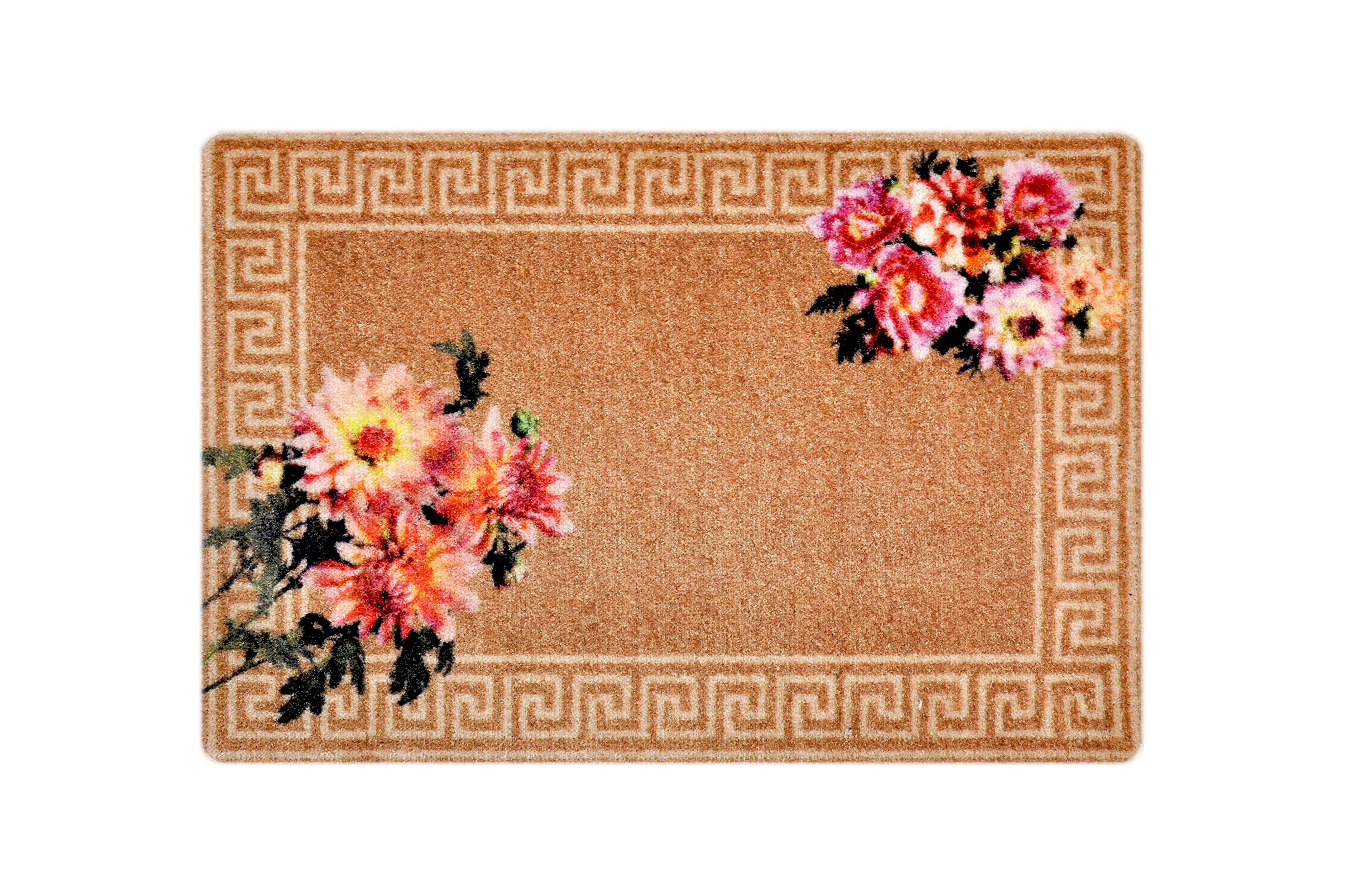 """Fußmatte """"Antike Blumen"""" beige"""
