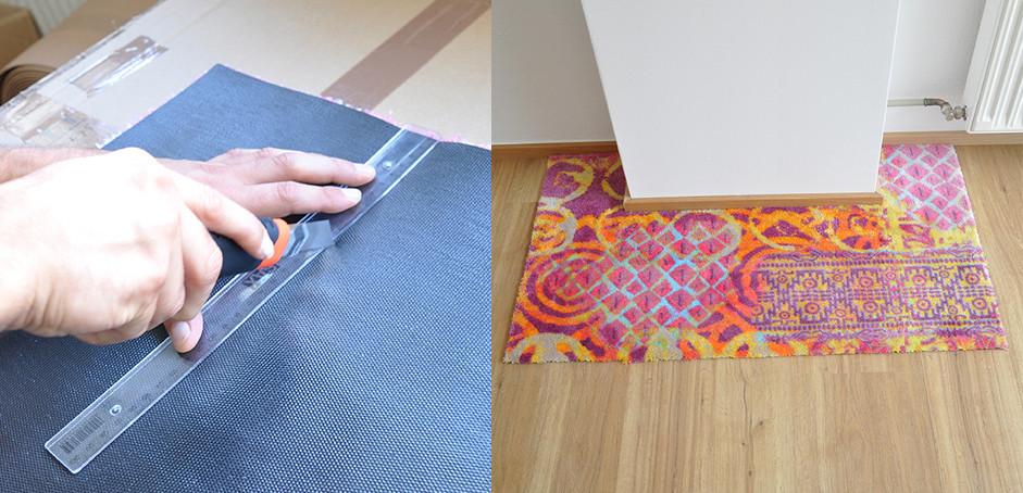 Teppich individuell zuschneidbar