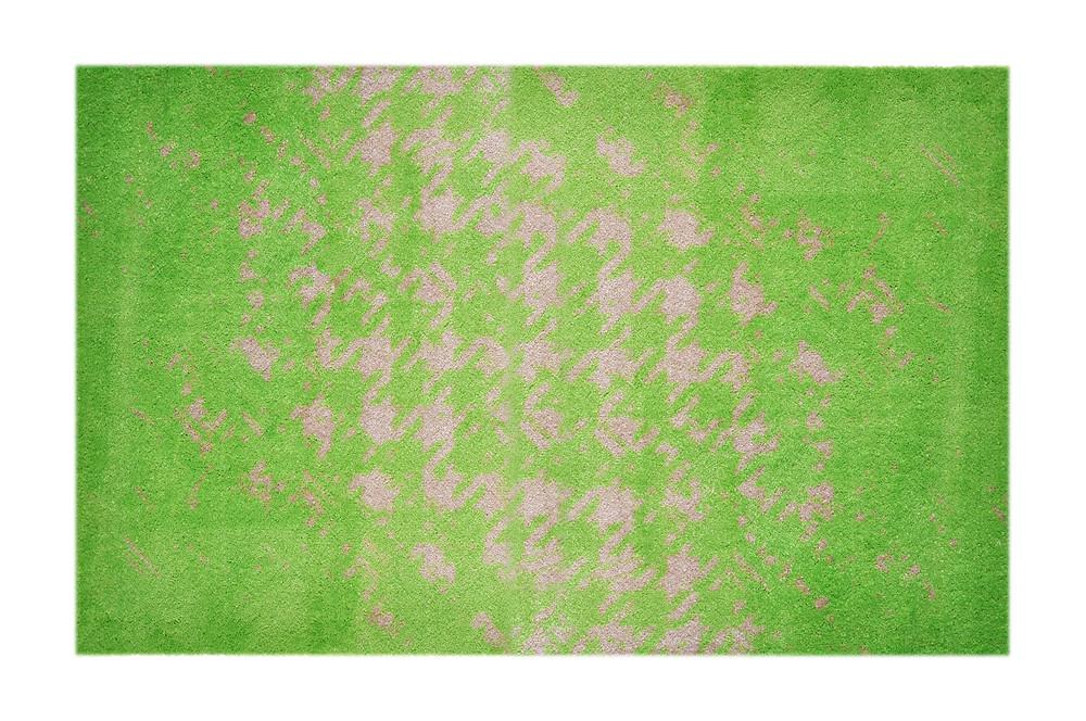 grüne Fußmatte