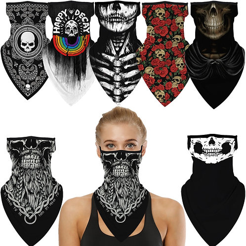 Skull Punk Scary Cosplay Face Mask-Neck Scarf-Must See-(12) Styles For Everyone!