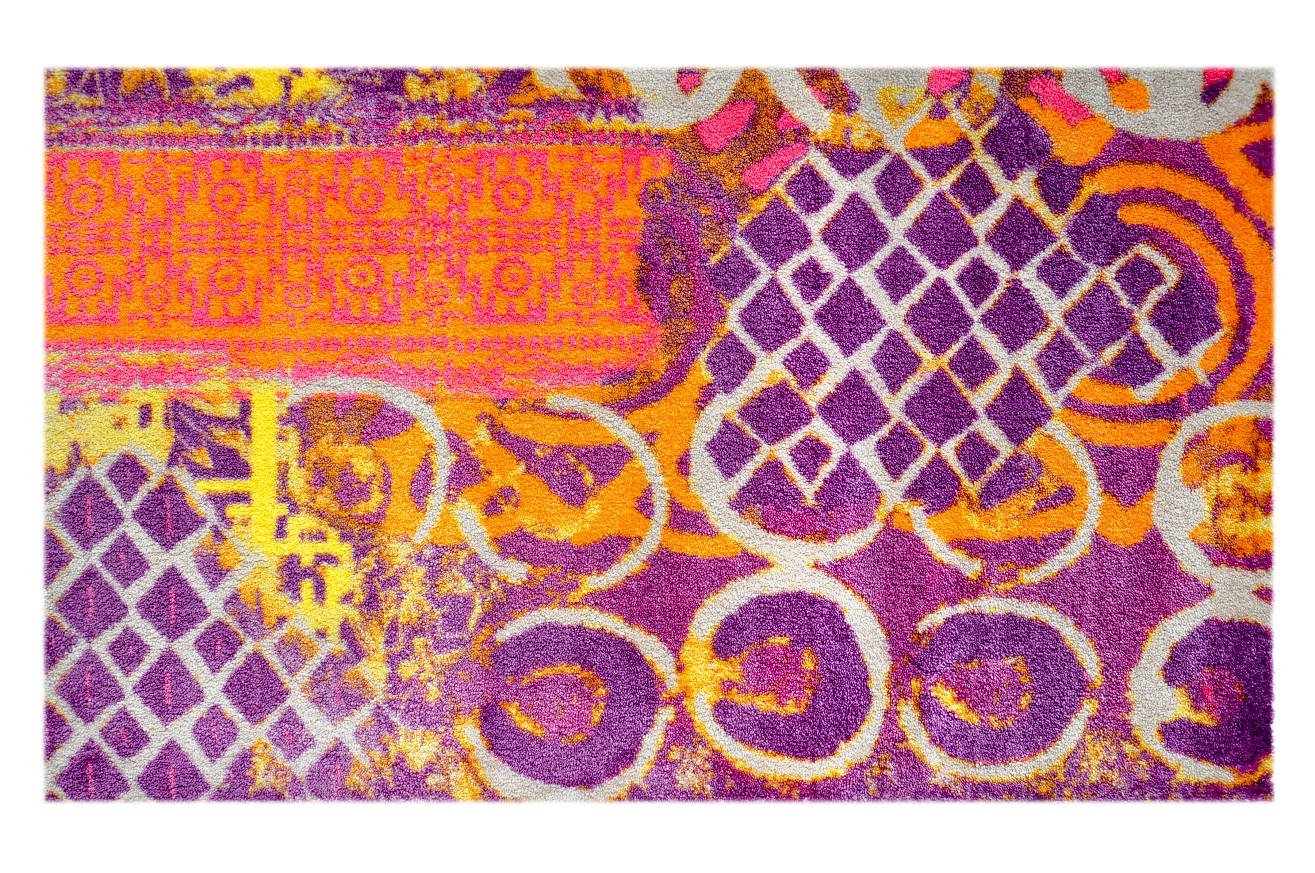 """Fußmatte """"Alter Teppich"""" violett"""