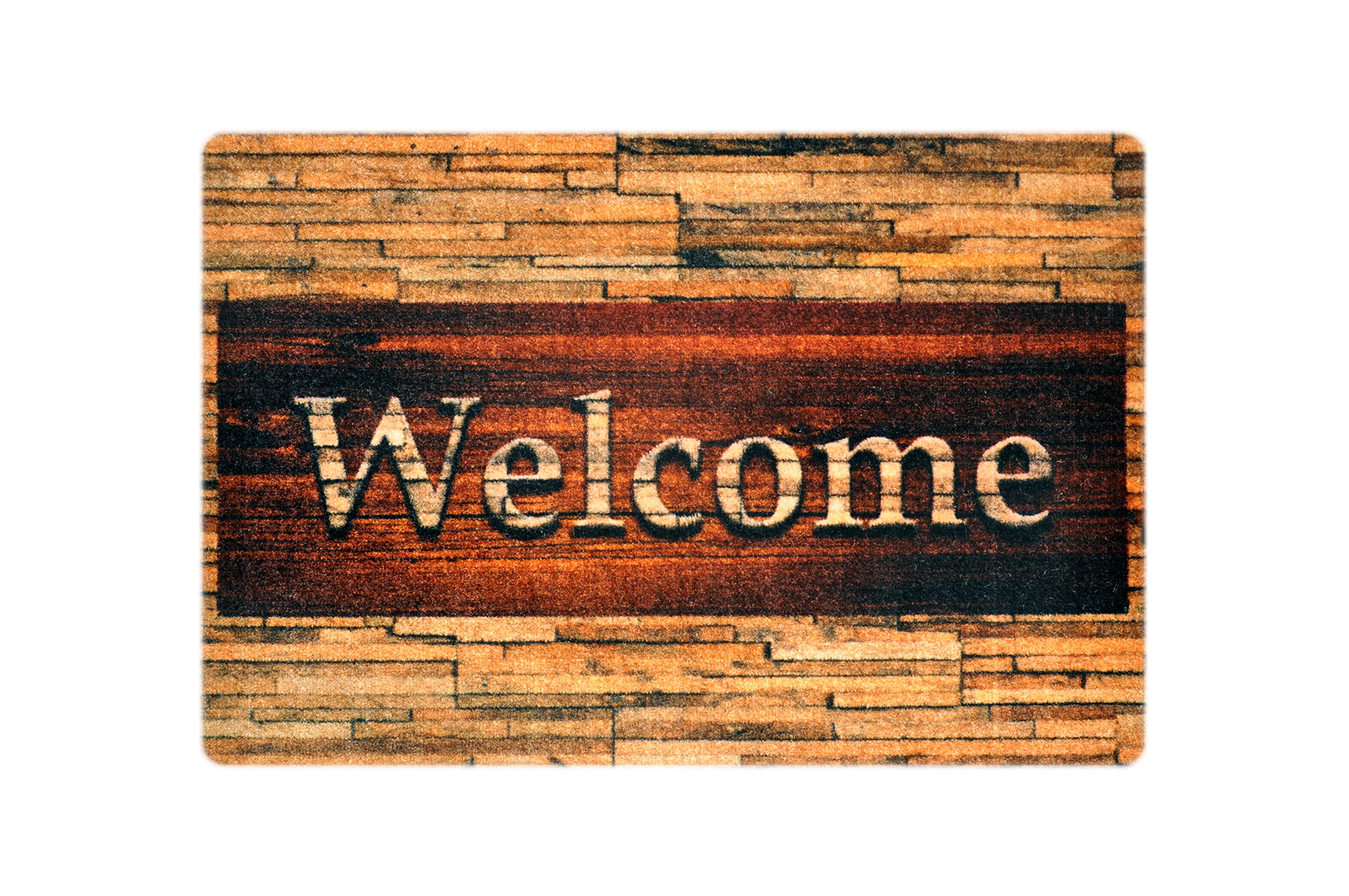 """Fußmatte """"Welcome Holz"""""""