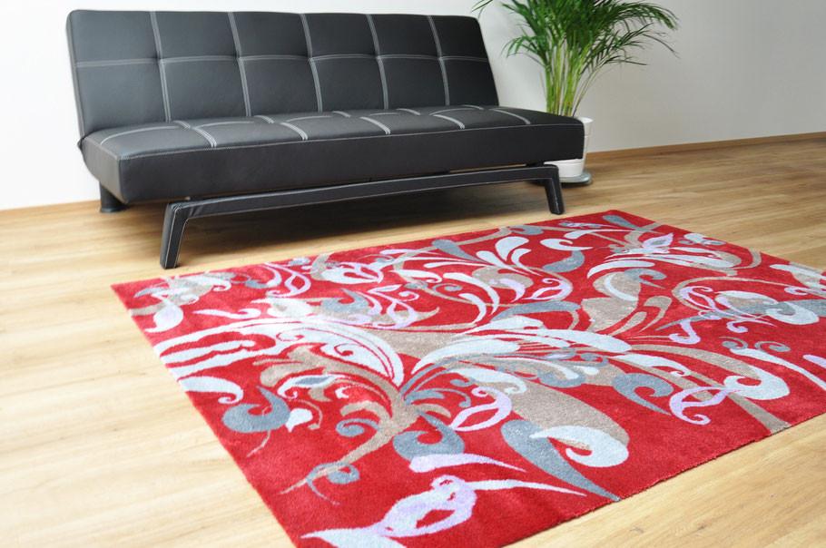 Teppich rot Wohnzimmer