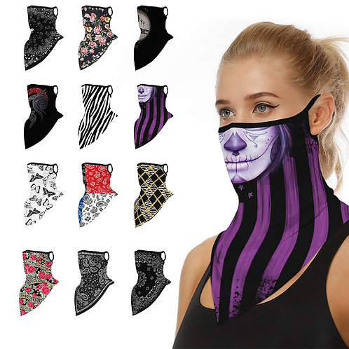 1PC Ear Loop Hanging  Scarf  Sun Protection Face Mask- 31 Styles To Choose From!