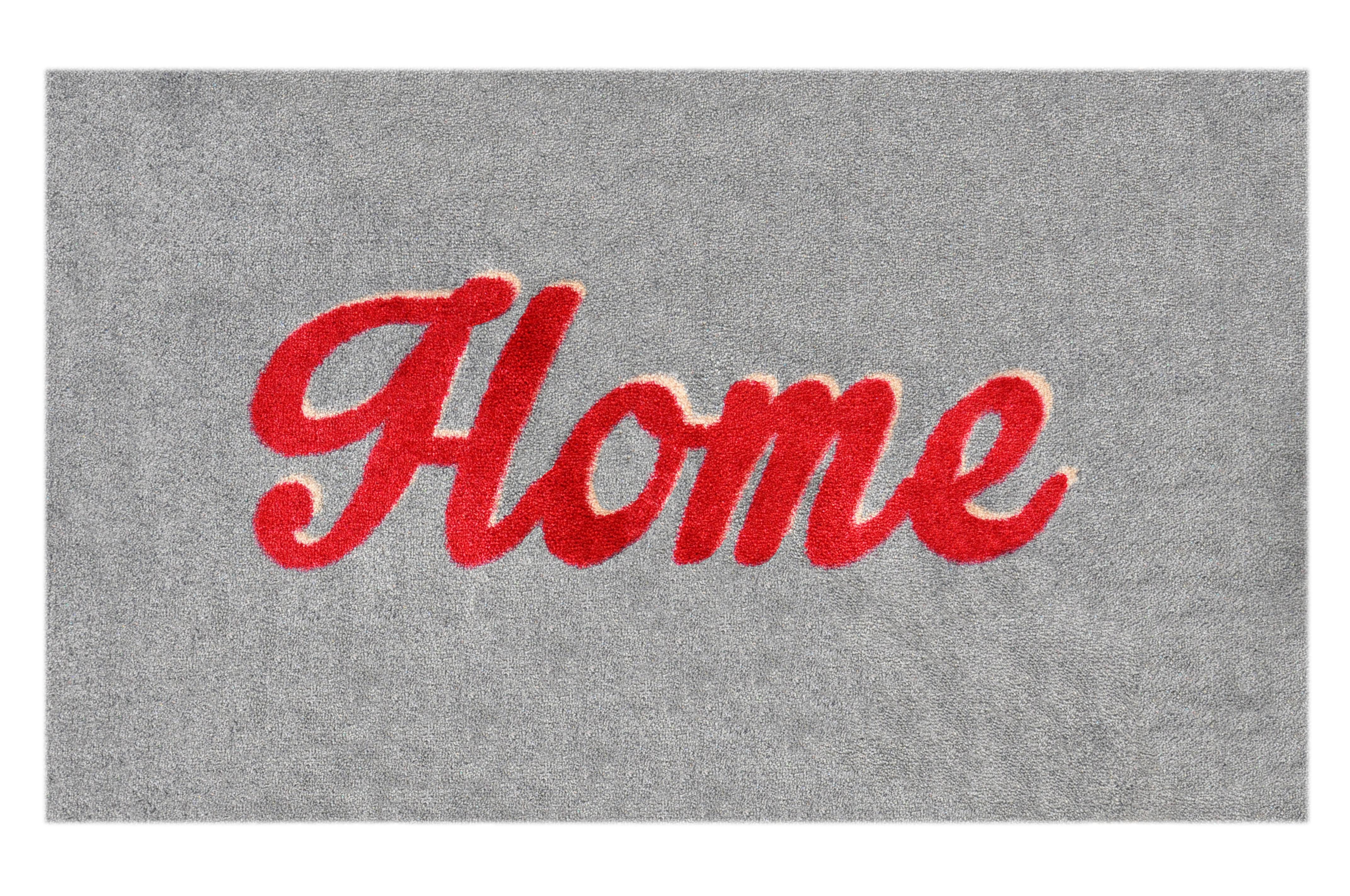 """Fußmatte """"Home"""" rot/grau"""