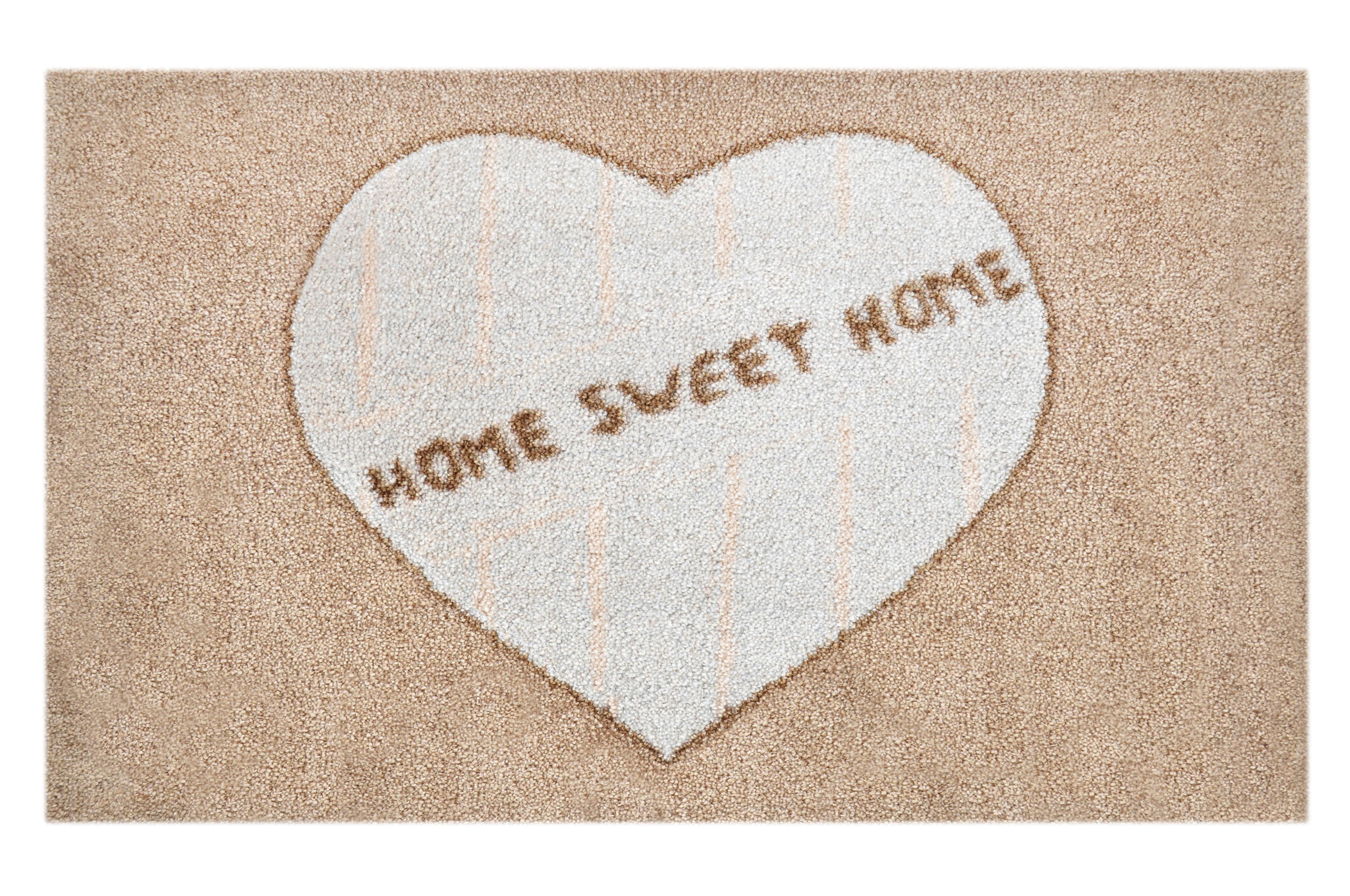 """Fußmatte """"Sweet Home"""" braun"""