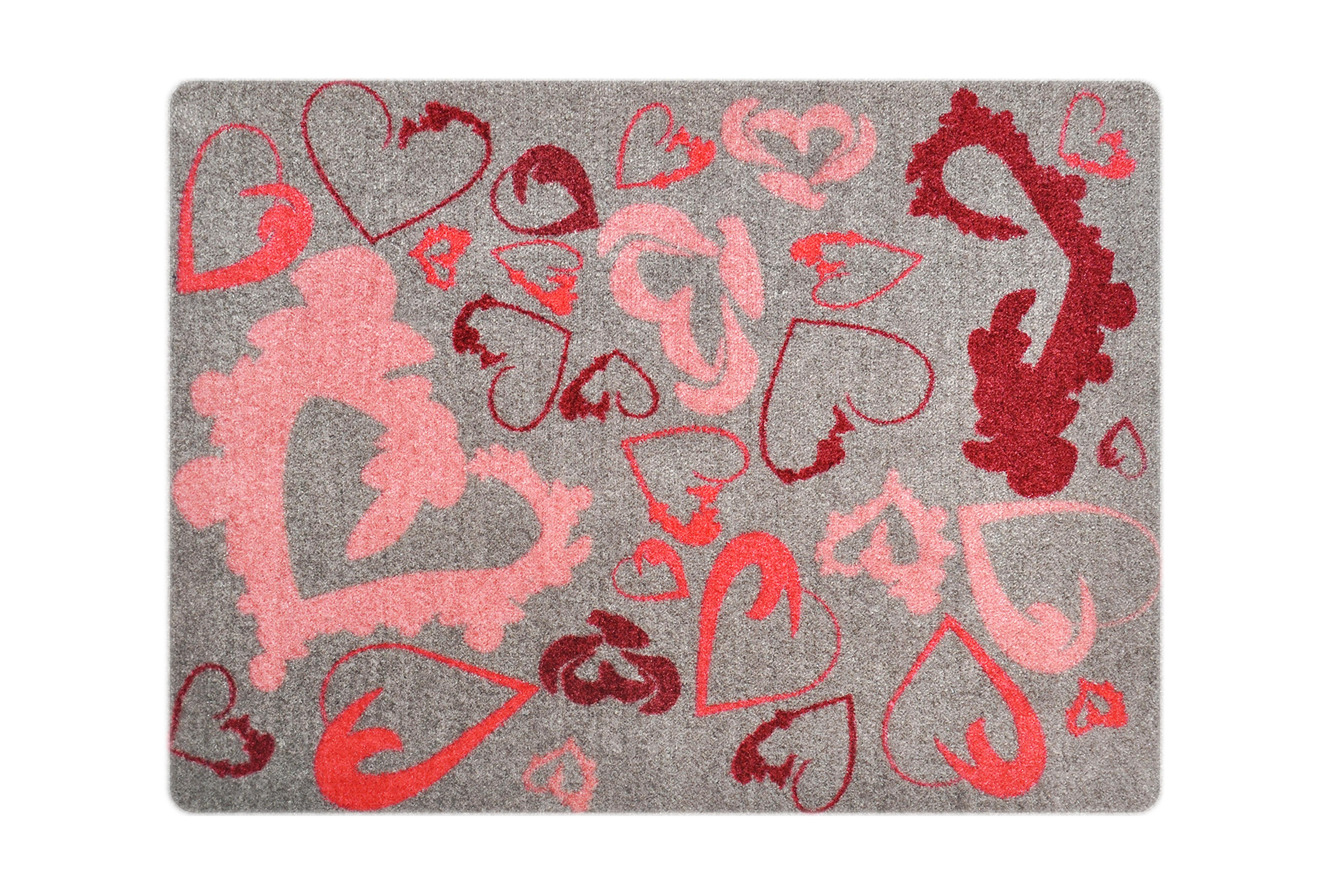 """Fußmatte """"Rot-Pinke Herzen"""""""
