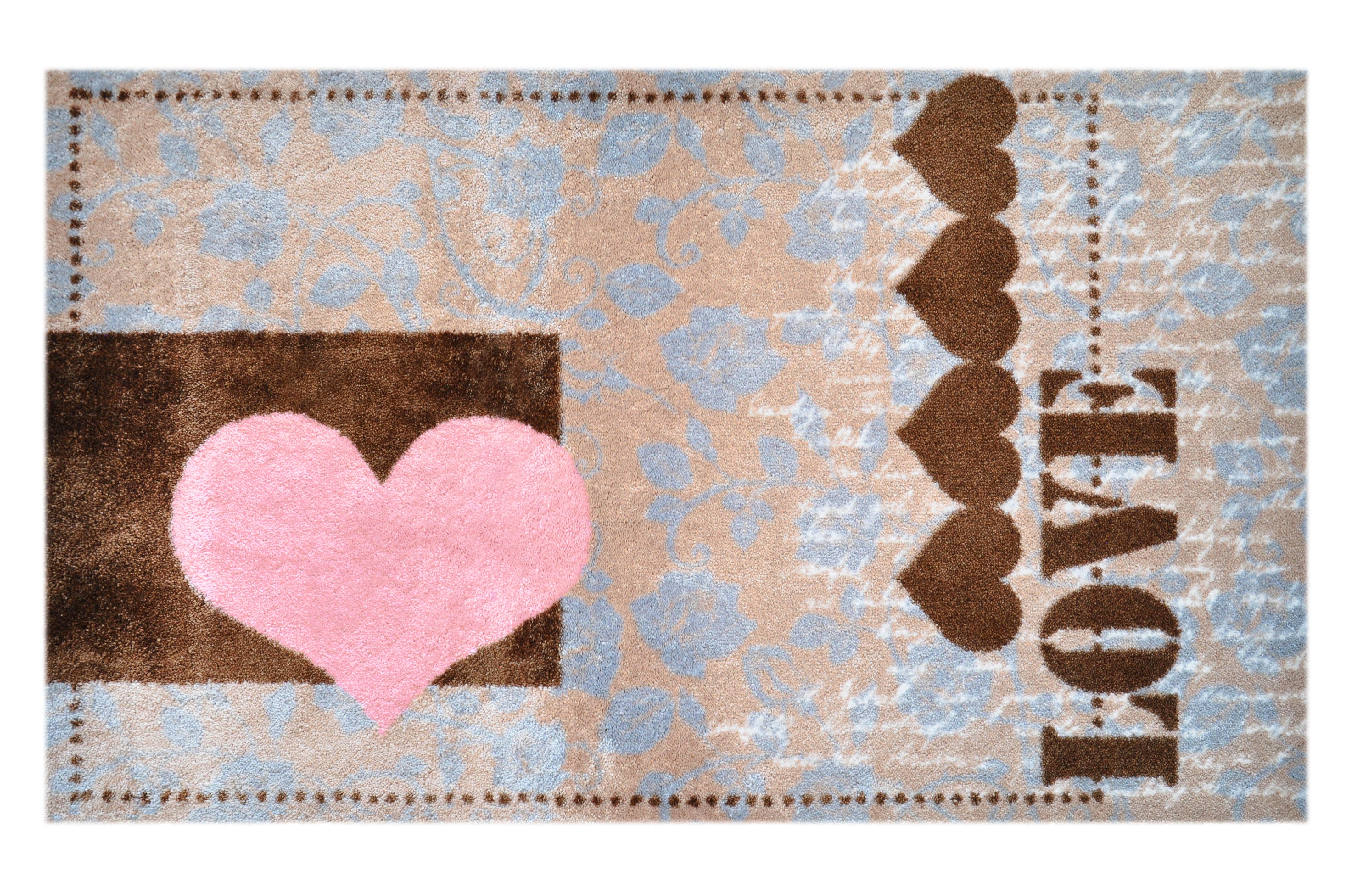 """Fußmatte """"Liebesherz Love"""" braun"""