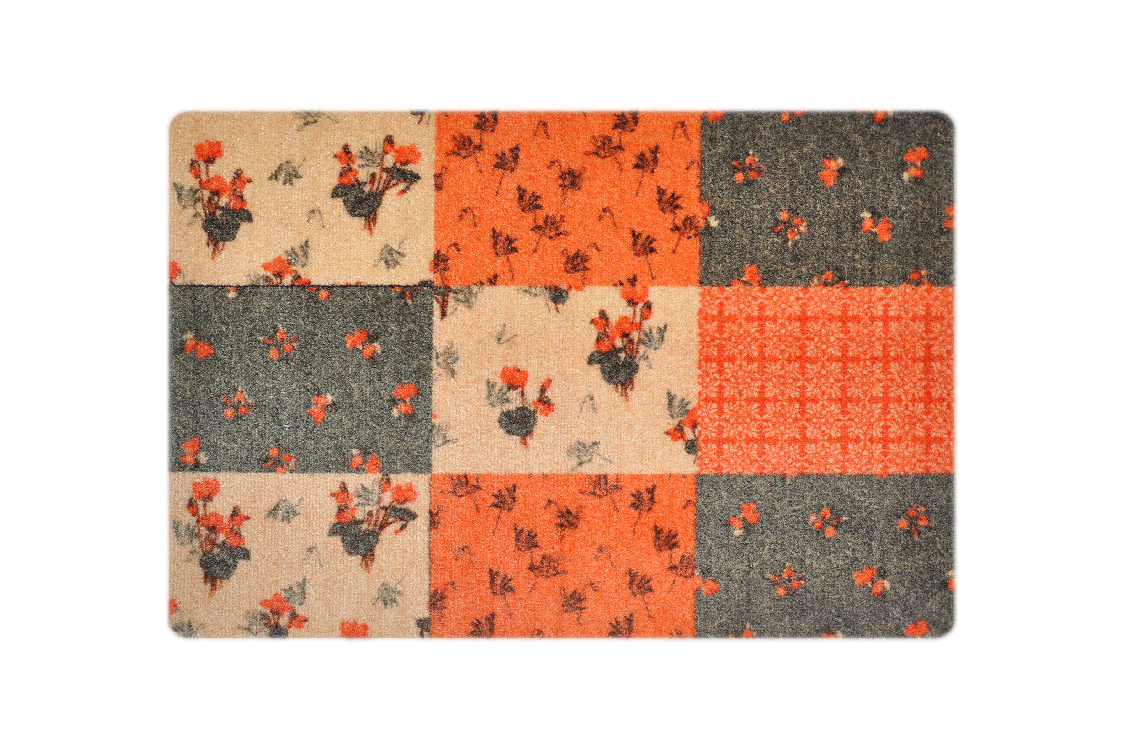 """Fußmatte """"Flora"""" orange/grün"""