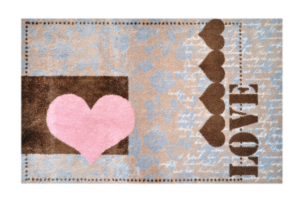 Teppich Herz, Fußmatte Love
