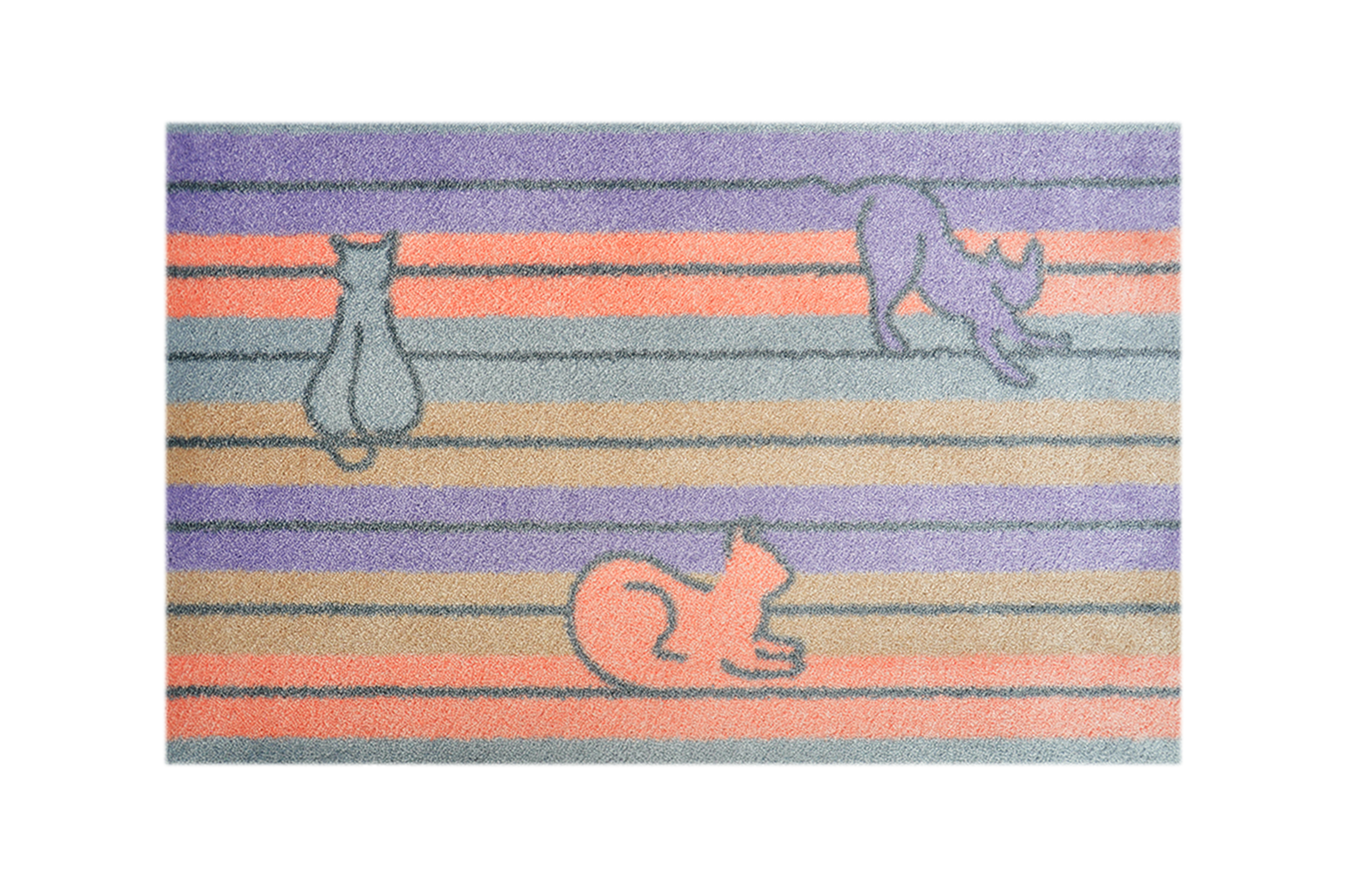 """Fußmatte """"Pastellkatzen"""" flieder"""
