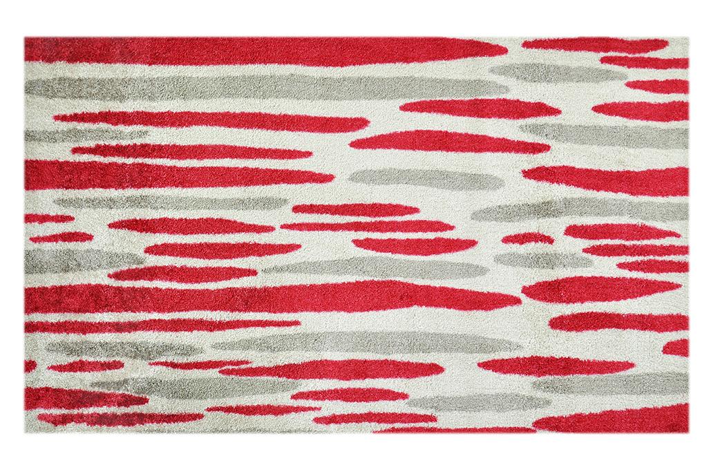 """Fußmatte """"Wasserfall"""" rot/beige"""