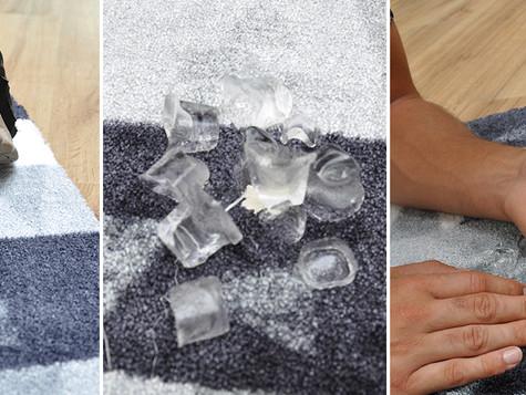 Wie entferne ich Kaugummi aus dem Teppich bzw. aus der Fußmatte?