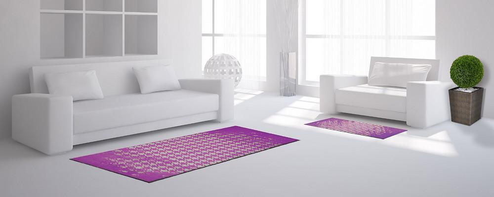 Fußmatte violett