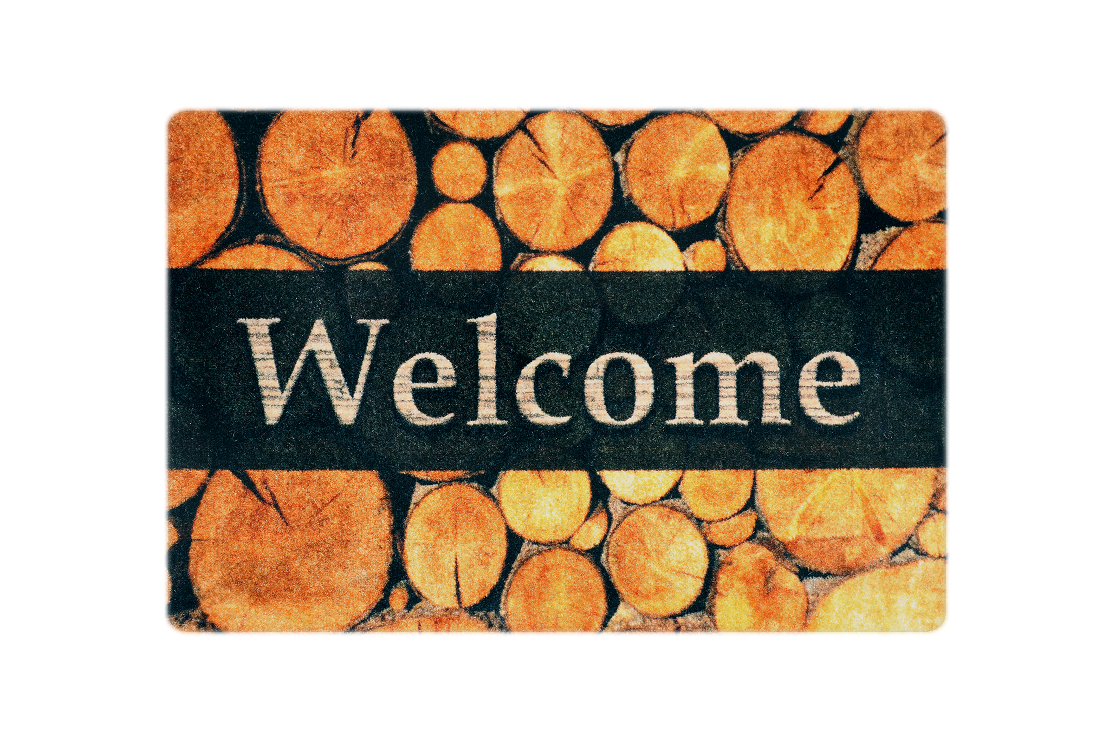 """Fußmatte """"Welcome Holzmeiler"""" braun"""
