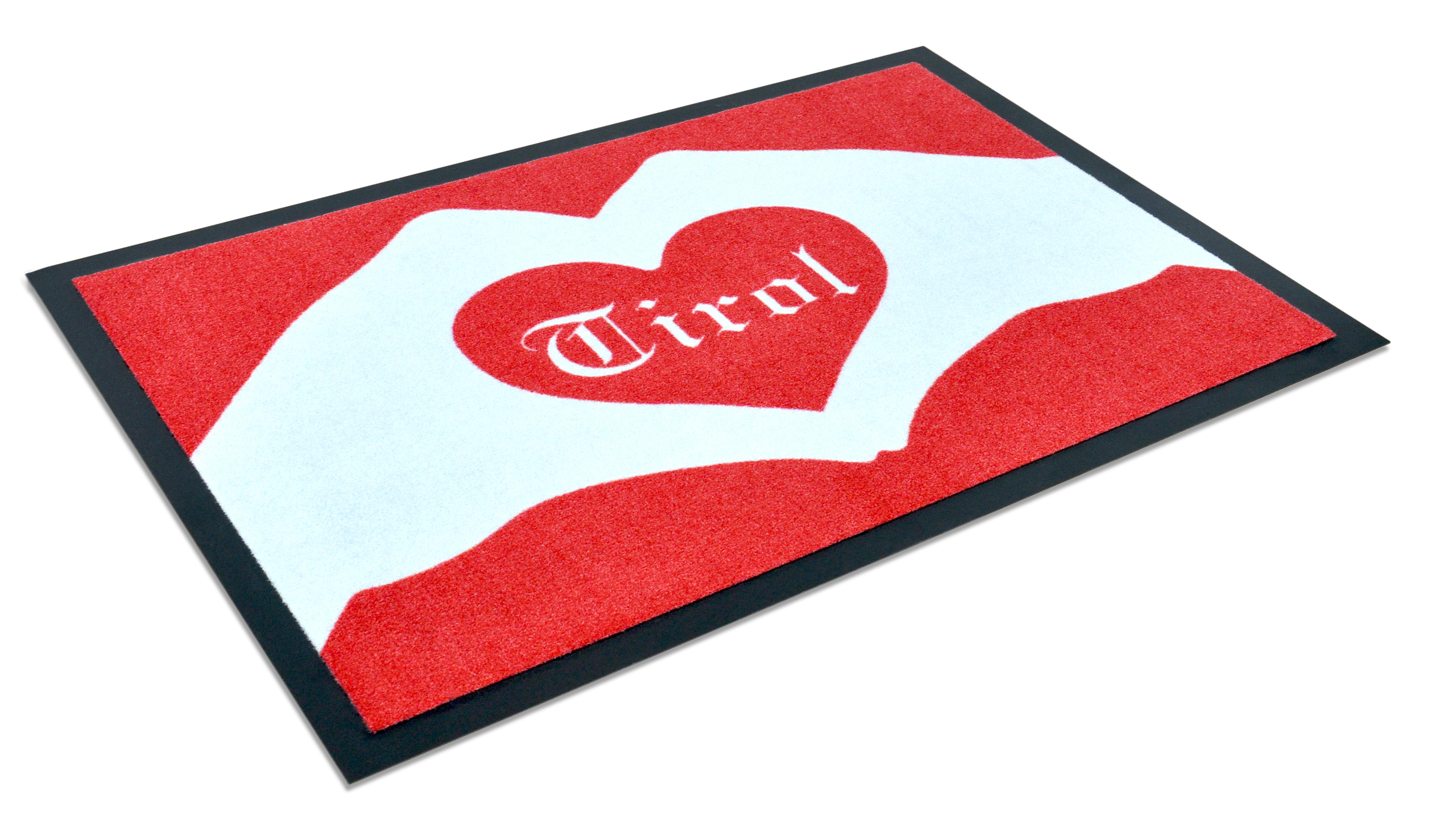 """Fußmatte """"I love Tirol"""" rot/weiß"""