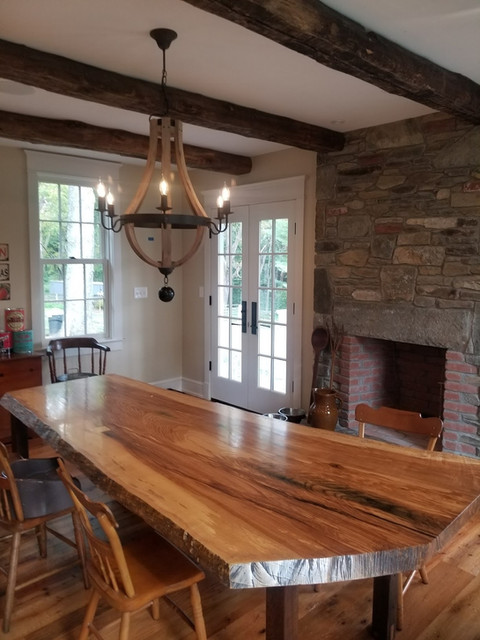 Ash Table w/Table Frame from old House Timbers