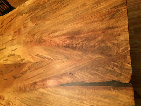 Maple Slab Table. Silver Maple with Ambrosia Beetle Stains. Bookmatched Pair.