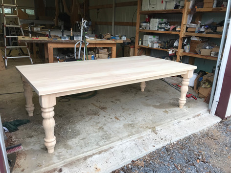 Ash Table. Customer wanted to apply Finish