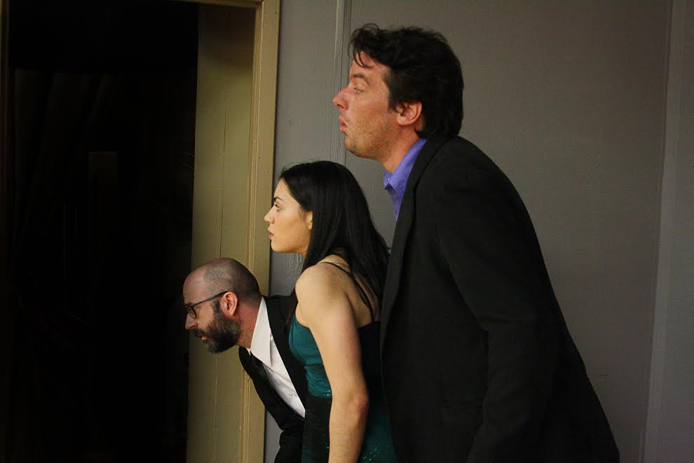 Carl Nehring, K.D. Guadagno, and Evan Donnellan in Rumors