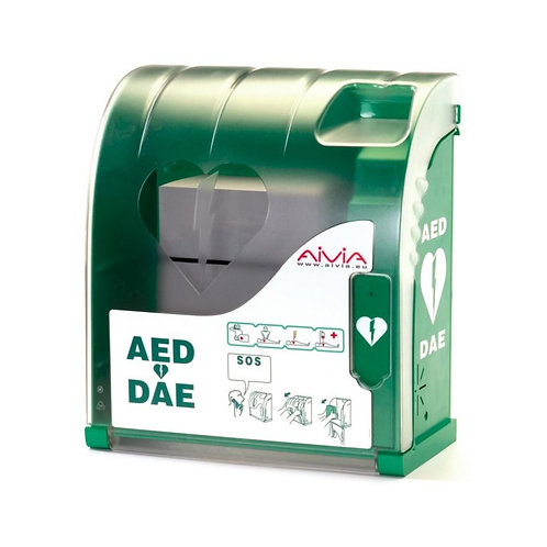 Aivia 100 seinäkaappi defibrillaattorille (hälytyksellä ja valaistuksella)