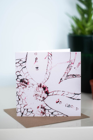 Abstract Floral Greetings Card