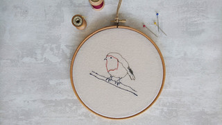 Robin Embroidery