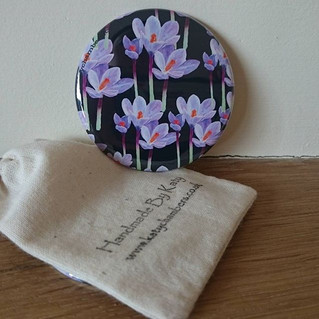 Lilac Crocus Pocket Mirror