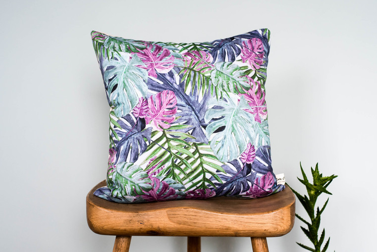 Tropical Leaf cushion - Multi