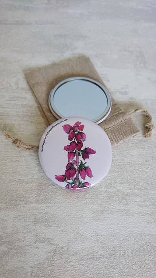 Bell Heather Pocket Mirror