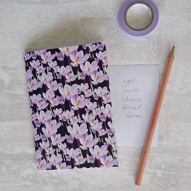 Lilac Crocus Notebook