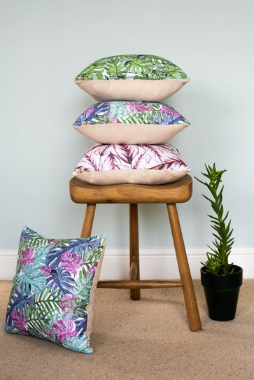 Tropical Leaf Cushion Collection
