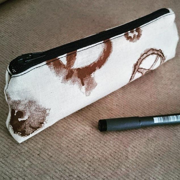 Brown Cogs Pencil Case