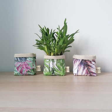 Tropical Print Planters