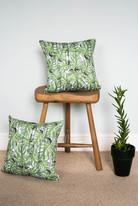 Tropical Leaf cushion - Green
