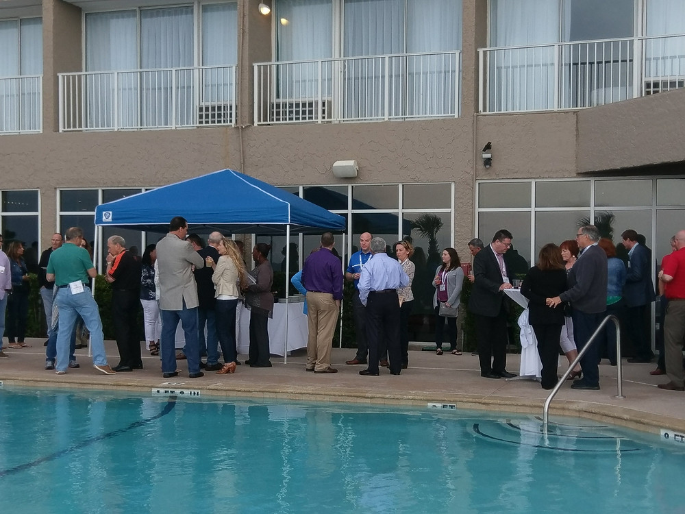 Welcome Reception by the pool.