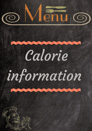 Nudging towards healthier choices when eating out - Calories on labels
