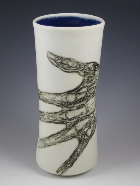 blood vessel hand vase