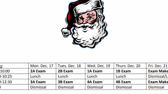 2018 Midterm Exam Schedule