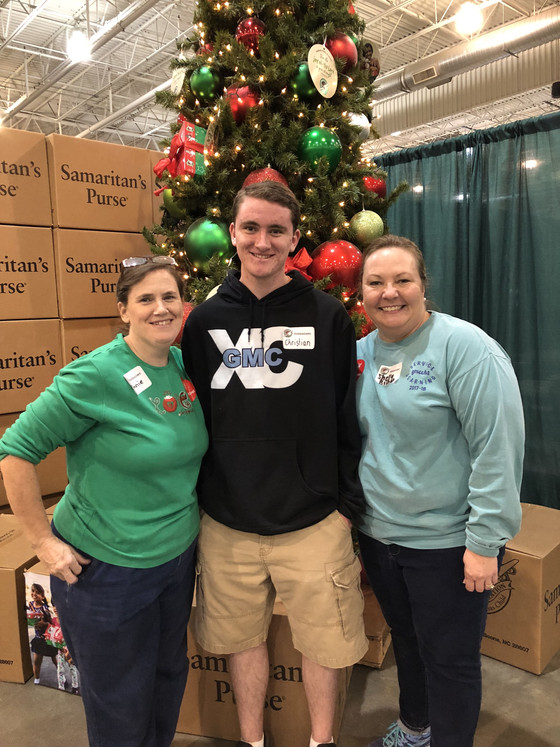 Service Learning Class visits Operation Christmas Child Center