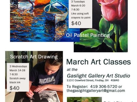 Upcoming classes for March