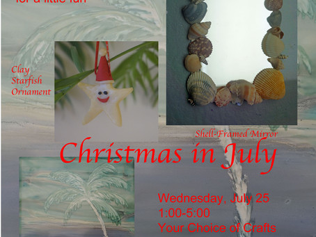 Christmas in July: Coming up Wednesday, July 25th