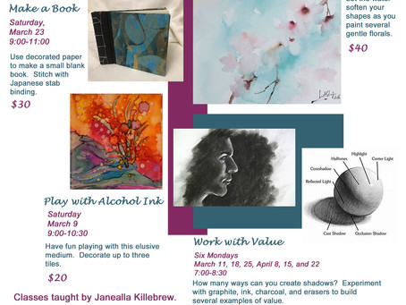 Upcoming classes in March