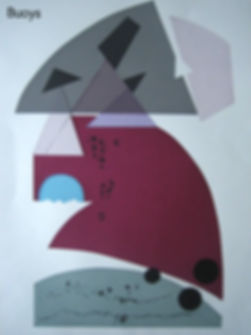 Bea Veness printmaker - buoys