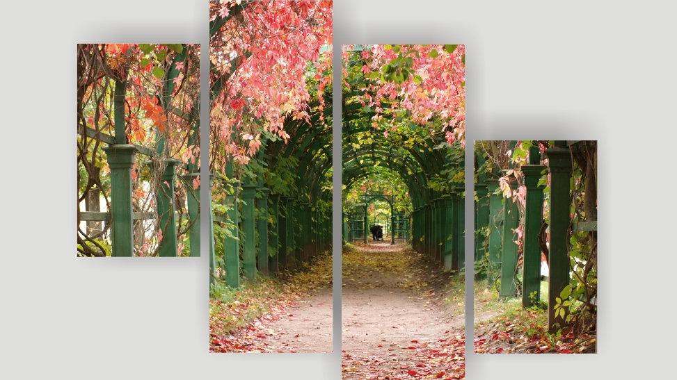 Модульная картина «Осень в Петергофе»