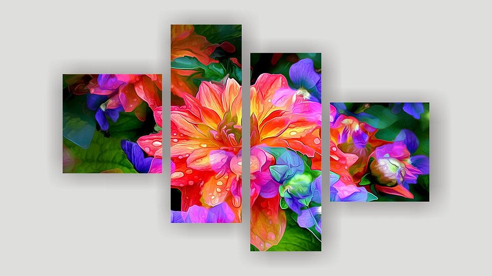 Модульная картина «Хризантема»