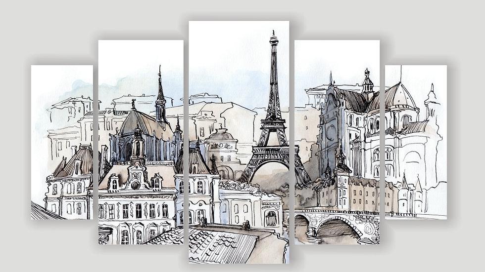 Модульная картина «Париж. Арт»