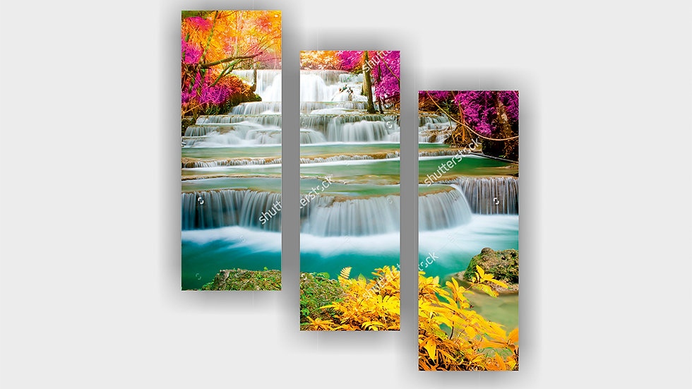 Модульная картина «Водопады»