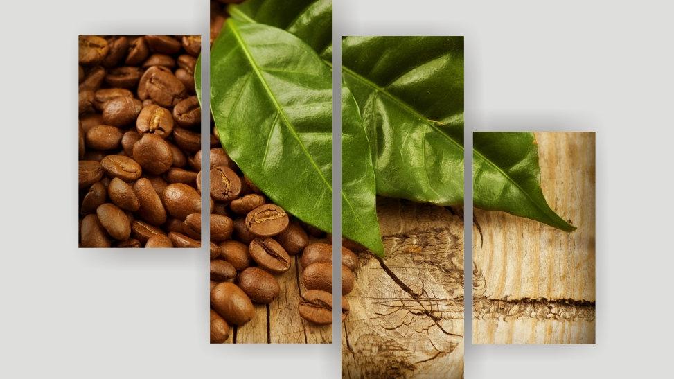 Модульная картина «Кофейные зерна»